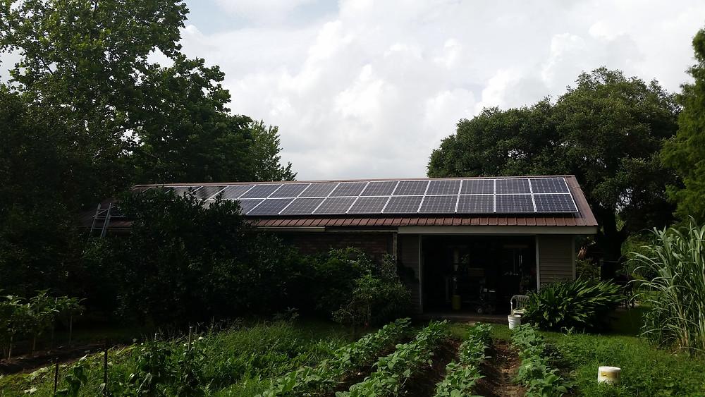 Garden shed solar
