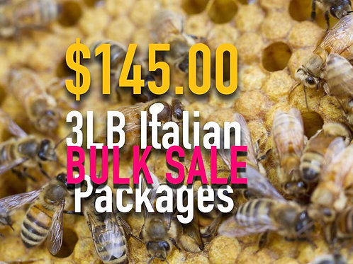 Italian Honey Bee 3 lb Packages
