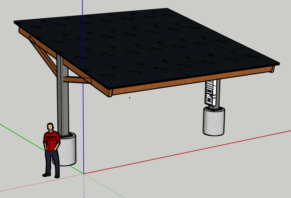 Custom solar car port