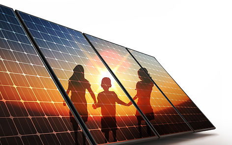Solar Panels with Kids Reflection