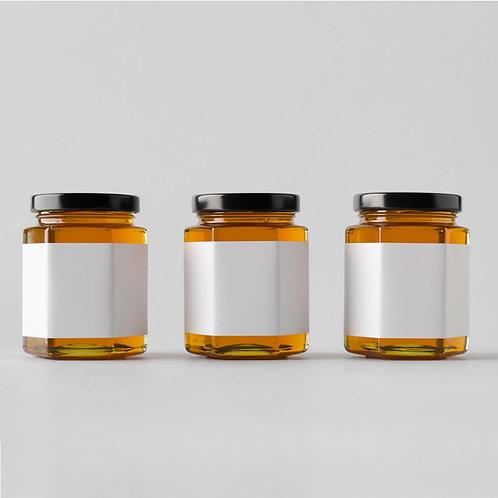 Custom Labeled Honey Jars 24- 9oz Glass Jars