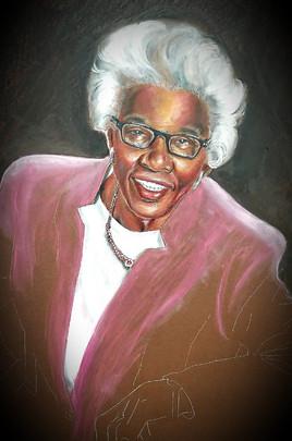 """Auntie"", Color Pencil and Pastel"