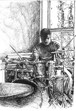 """""""The Maestro"""", Pen and Ink Drawing"""