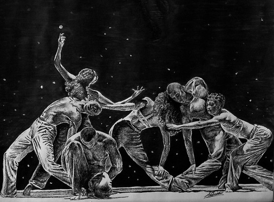 Study of Alvin Ailey's Untitled America 2nd Movement