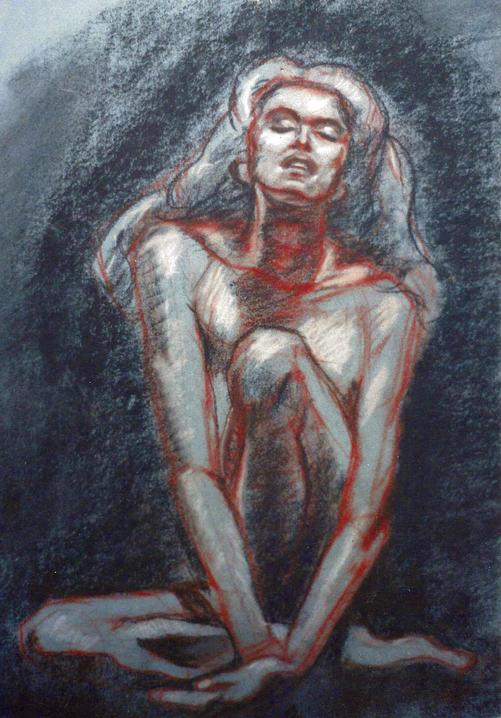 """""""Untitled"""", Conte Crayon"""