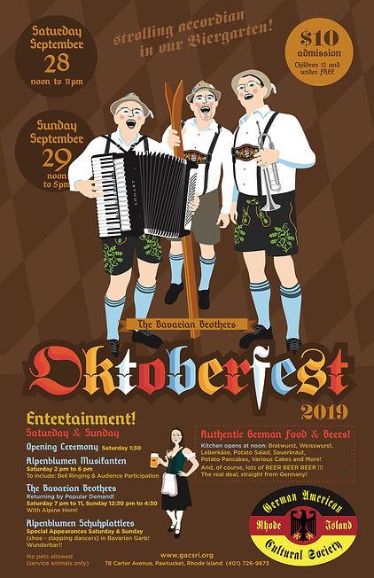 Oktoberfest Pawtucket Poster 2019