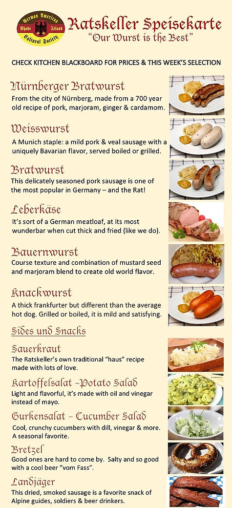 GACSRI Pawtucket German Food Menu