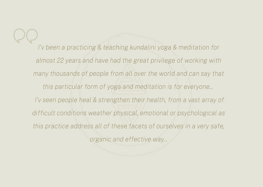 I'v been a practicing & teaching kundali