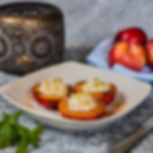 Grilled Nectarines with Ricotta and Honey