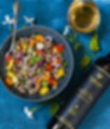 Griechischer Salat aus Schwarzaugenbohnen