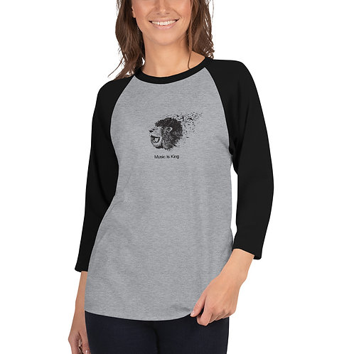 3/4 sleeve raglan shirt Lion Logo