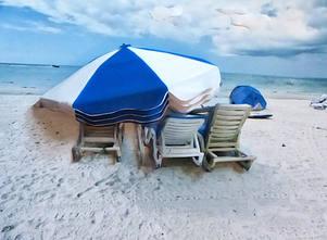 Blue & White Umbrella