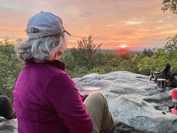 Sunrise  over Allegheny Mountain