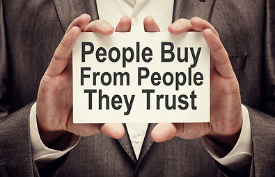 People Buy From People They Trust. Busin