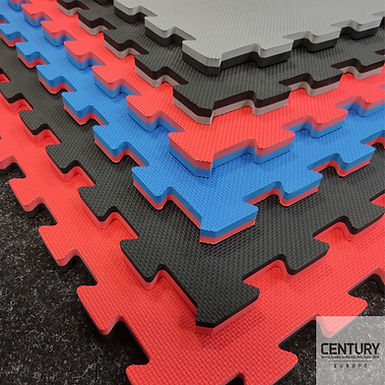 Reversible martial arts puzzle mat with edge 100x100x2cm