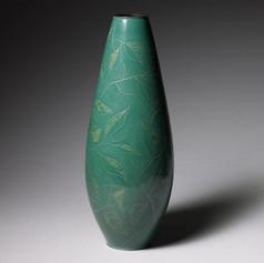 Enamel flower vase  Japan, Showa period, 1950's Height: 36 cm, 14 1/8 in Diameter: 14 cm, 5 in