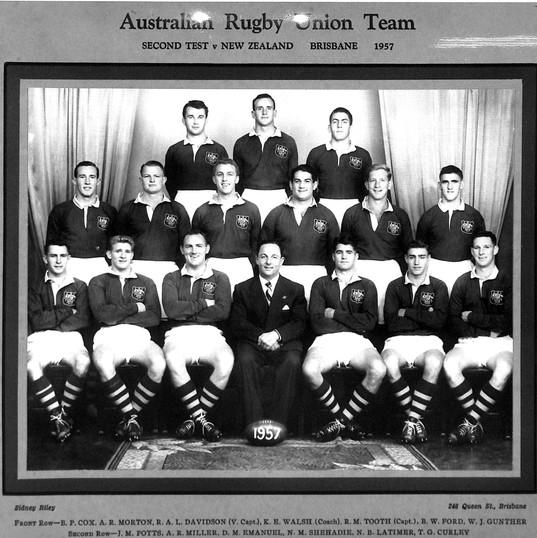 LCRUBarneyWalsh1957 Aust v NZ 2nd Test B