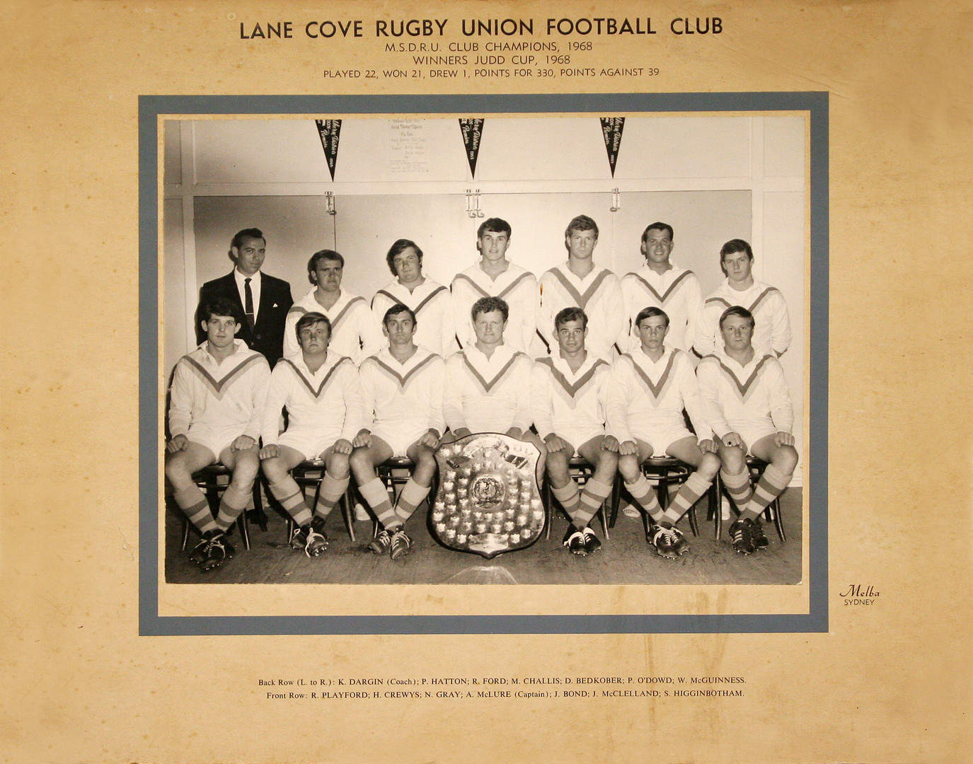 1968 Judd Cup Premiers