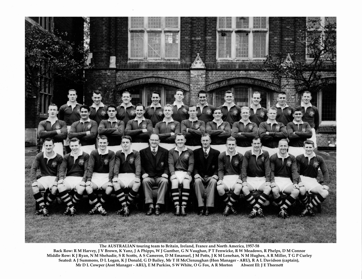 1957 Wallabies Tour Squad feat. Ken Yanz