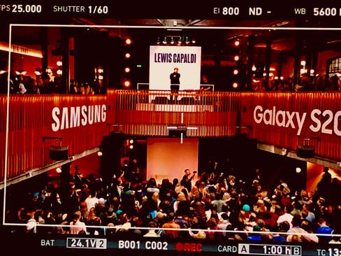 Samsung & Lewis Capaldi Advert