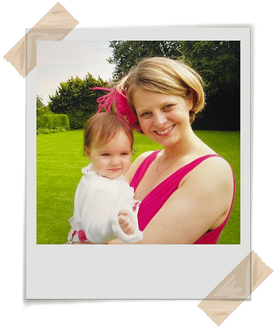 Life and Business Change Coach Jenny Jarvis with her first daughter Katie