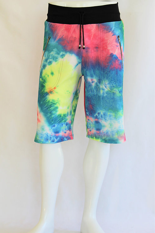 Neon Tie Dye Casual Shorts