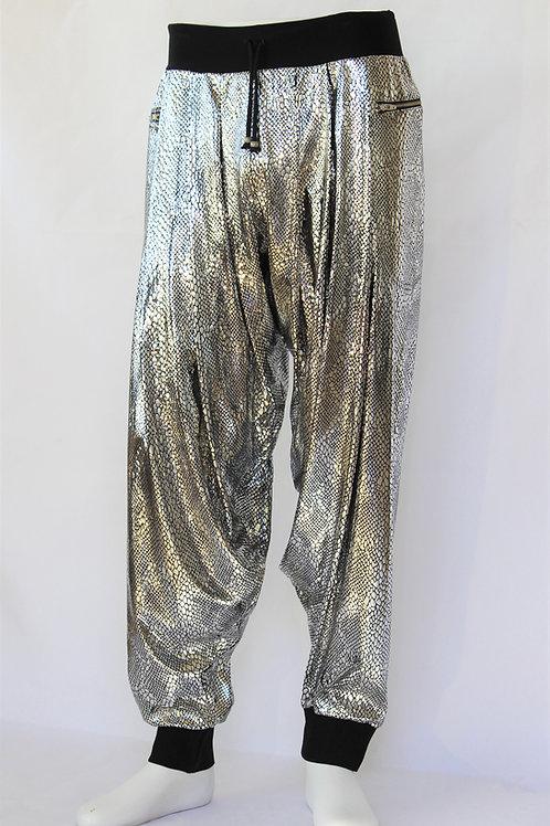 Silver Metallic Harem Pants