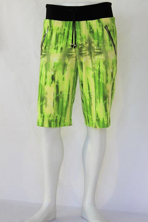 Neon Green Casual Shorts