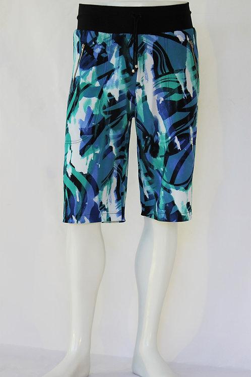Abstract Print Casual Shorts
