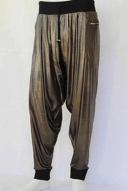 Gold Metallic Harem Pants