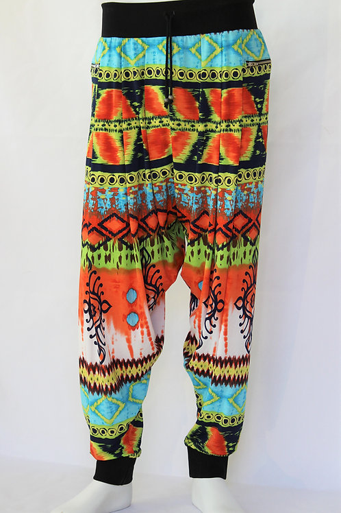 Tribal Pattern Harem Pants