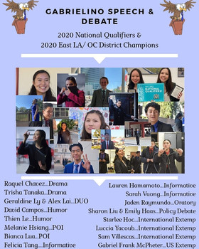 Gabrielino High Screaming Eagles National Qualifiers