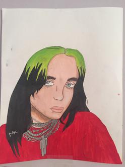 Billie Eilish, Artist: Maya Katz, 7th Grade, Jefferson MS