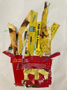 Funny Fries, Artist: Alina Sarahi Cortez, 2nd Grade, Wilson Elementary