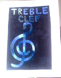 Treble Clef, Artist: Maite Lopez, 5th Grade, Roosevelt Elementary