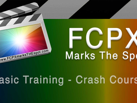 'FCPX Marks The Spot' Training Course for Final Cut Pro X is LIVE!!!