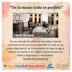 Comunidad Arrupe acoge y ofrece un techo y un hogar a solicitantes de asilo y migrantes vulnerables.