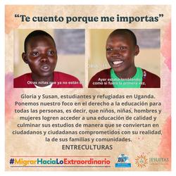 Gloria y Susan, estudiantes y refugiadas en Uganda, conozcamos su historia.
