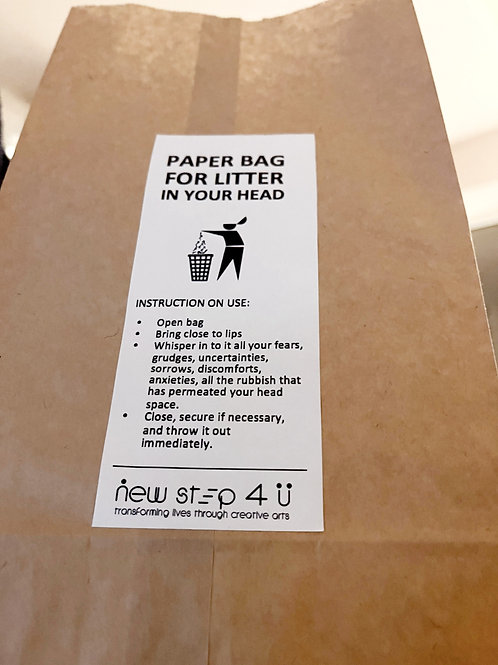 Paper Bag for LITTER IN YOUR HEAD
