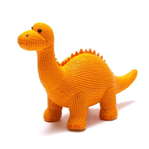 Natural Rubber Diplodocus Dinosaur Toy, Bath Toy and Teether