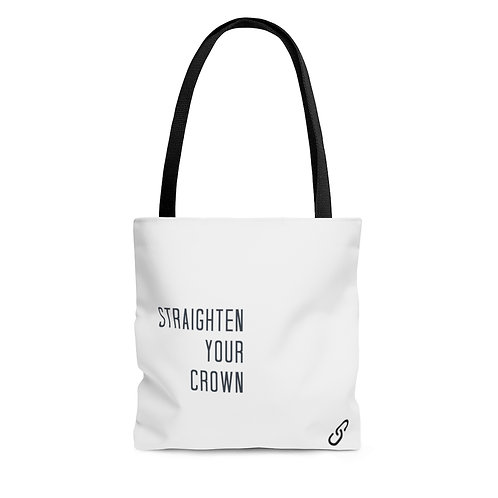 AOP Tote Bag-Straighten Your Crown.