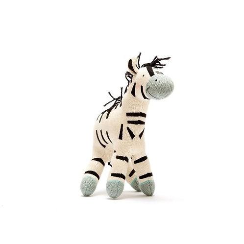 Large Organic Zebra Soft Toy