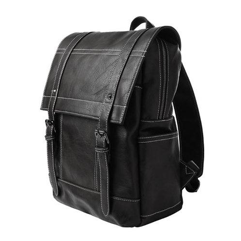MM Drake Vegan Leather Backpack-Blk