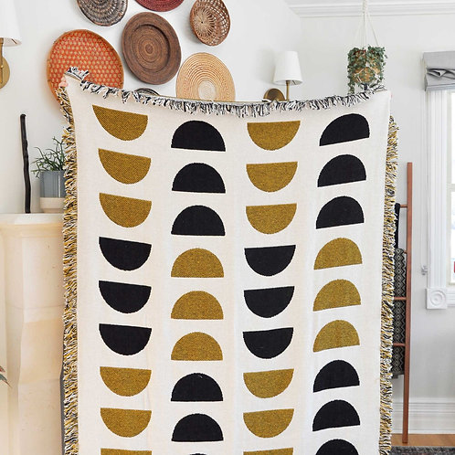 Swell Crescent Moon Cotton Throw