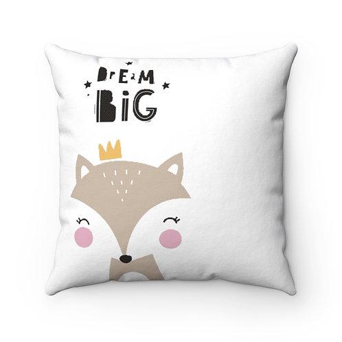 Spun Polyester Square Pillow-Dream Big
