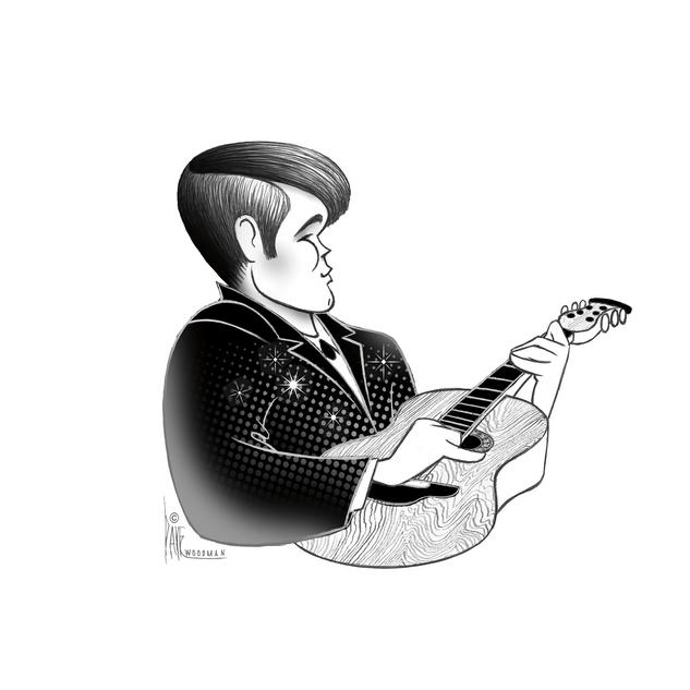 Glen Campbell caricature by Disney Animator Dave Woodman