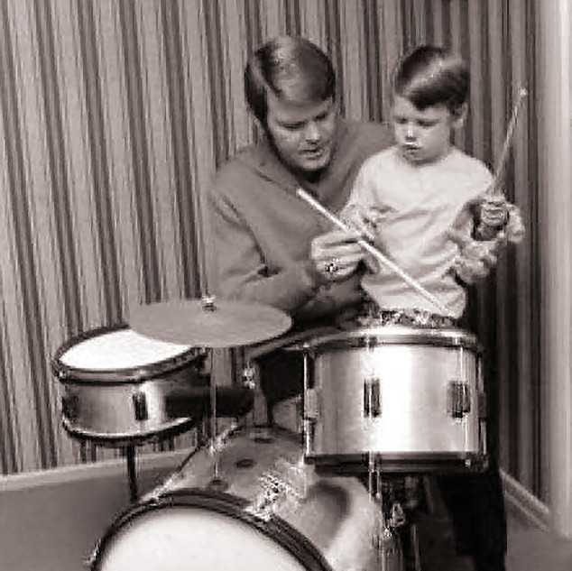 Glen Campbell and his son Travis