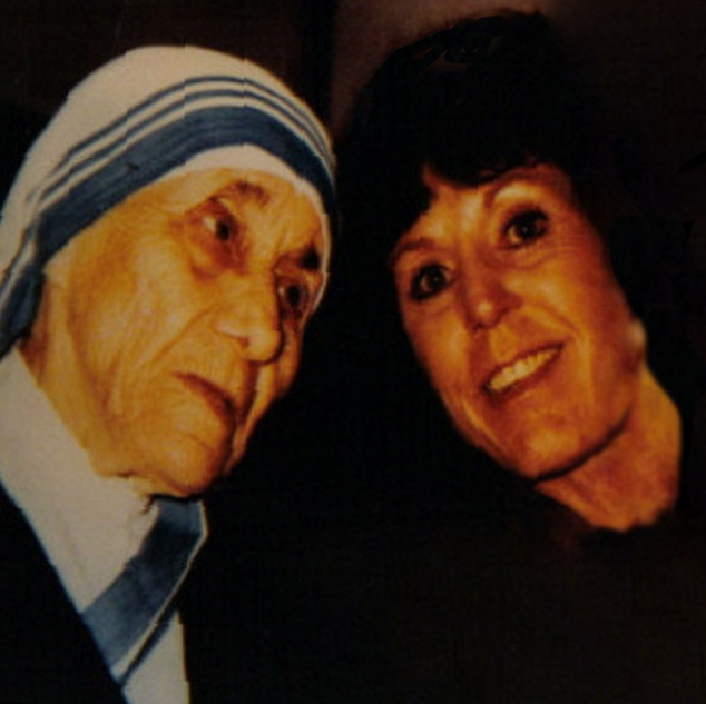 Billie Jean Campbell with Mother Teresa