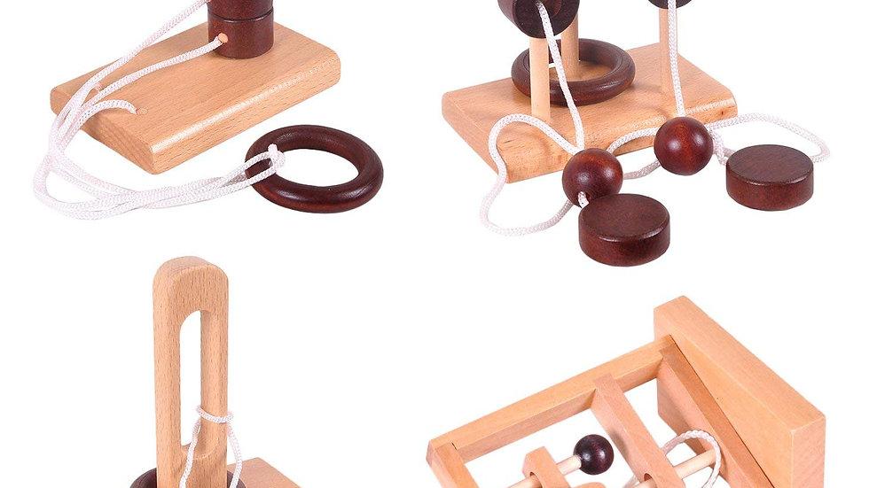 Rompecabezas de madera x4
