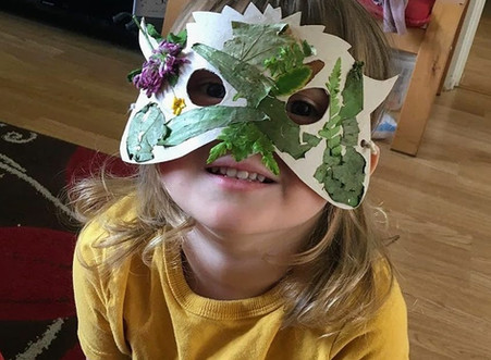Make your own nature inspired bird mask!
